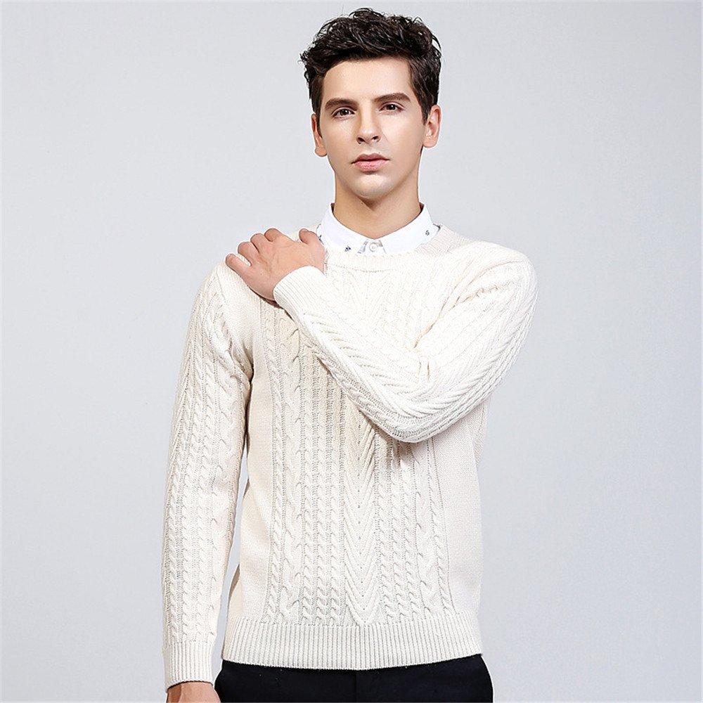Jdfosvm Winter - Pullover, modische Stehkragen, Hals - Pullover, Junge Thread - Pulli,Beige,M,