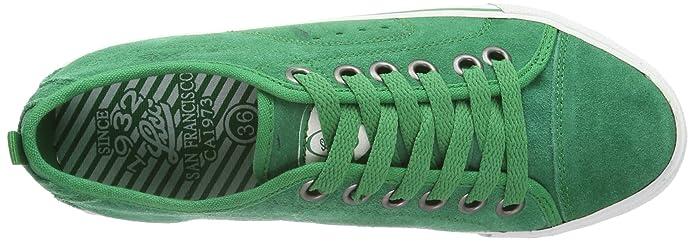 Lico Hawaii 540144 - Zapatillas de cuero, color verde, talla 39