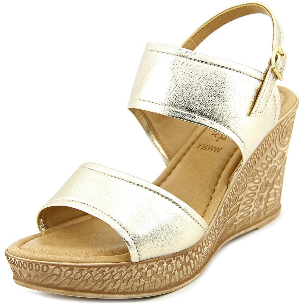 Bella Vita Women's Nicola Wedge Sandal B01A3HQLG6 7 W US|Gold Platino