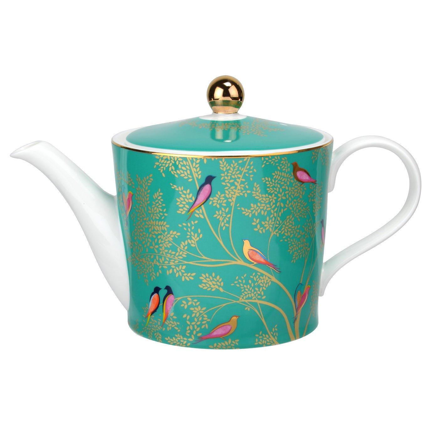 Sara Miller for Portmeirion SMC78923-XG Chelsea Teapot, Ceramic, Green, 290 x 175 x 150 cm