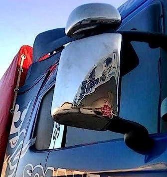 4 piezas espejo pulido acero inoxidable fundas para Scania R ...