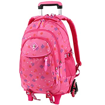 Amazon.com   VBG VBIGER Rolling Backpack Wheeled School Backpack for  Primary Girls Boys   Kids  Backpacks 634d8ccaec