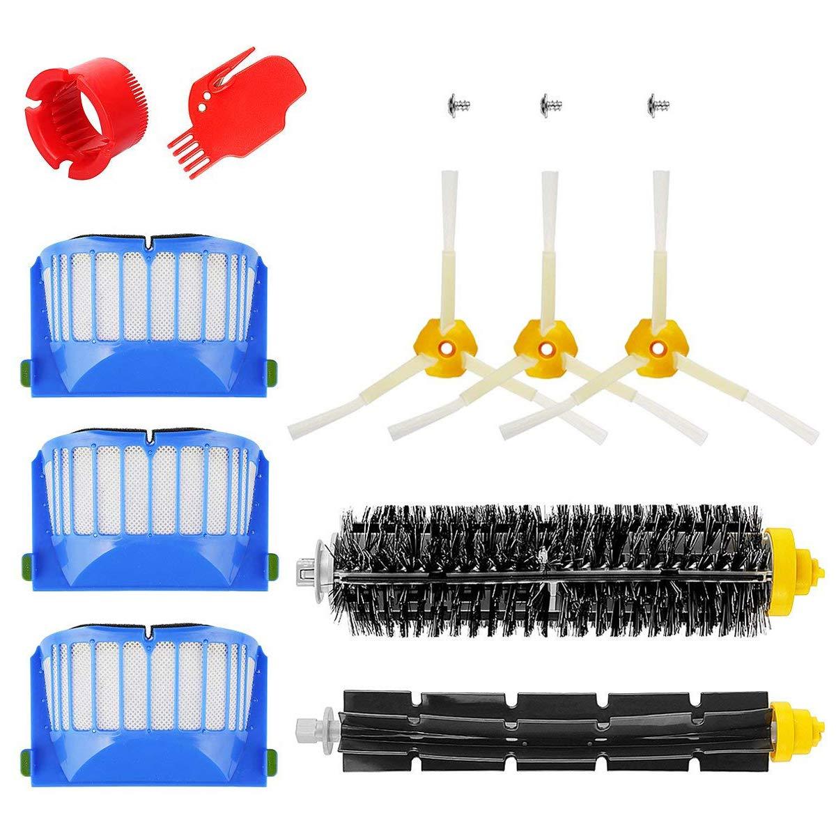 iRobot Roomba Serie 600 Pack Kit Cepillos Repuestos de Accesorios para Aspiradoras 10PCS 600 Series 605 610 615 616 620 625 630 631 632 639 650 651 660 670 ...