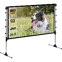 Ekran ze statywem 100 cali 16:9 4K HD 3D ekran statywu ze składanym stojakiem, projekcja przednia i tylna, do użytku…
