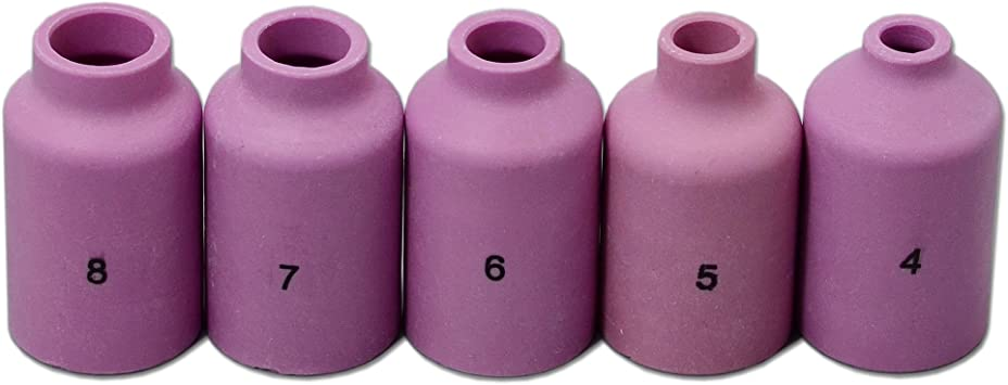 "Alumina Nozzle 7//16/"" Fits WP17 WP18 WP26 Qty 5 Ceramic Gas Lens Cup 54N15 #7"