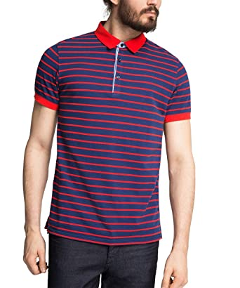 ESPRIT Collection Men s F Pistr Short Sleeve Polo Shirt, Red, XX-Large 2beb35f88569
