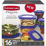 Rubbermaid Premier Food Storage Containers, 16-Piece Set, Purple