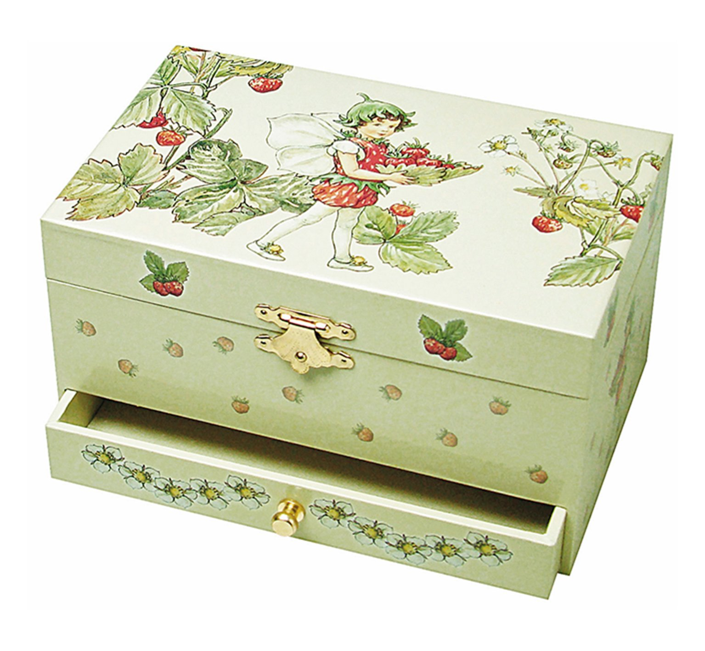 Trousselier Strawberry Flower Fairies Musical Jewellery Box