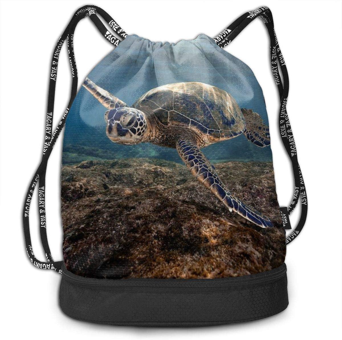 GymSack Drawstring Bag Sackpack Sea Turtle Sport Cinch Pack Simple Bundle Pocke Backpack For Men Women