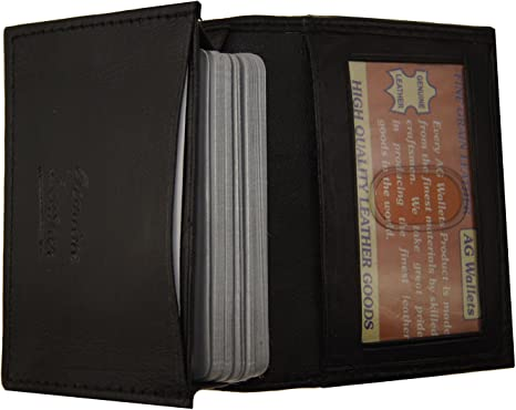NEW convenient card holder  wallet from black leather  card holder ID card  business cards and cash free initials with chain bike wallets