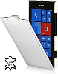 StilGut UltraSlim Case, housse en cuir véritable pour Nokia Lumia 520, Blanc