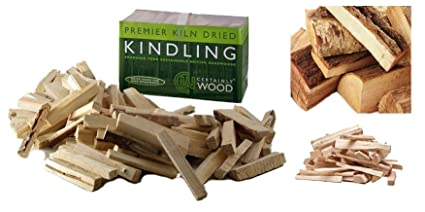 Kindling Leña seca, encendedores naturales para hacer fuego, para barbacoas, fogatas, chimeneas