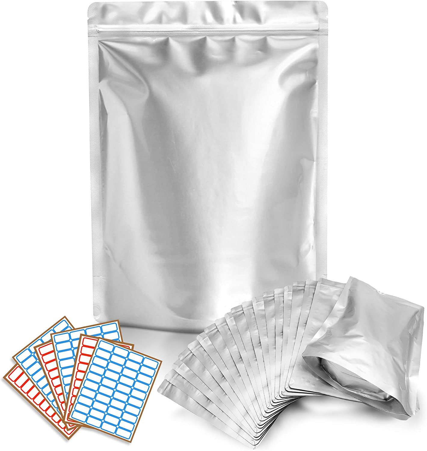 50 Mylar Bags 1 QUART - Extra Thick 7.4 Mil - 7