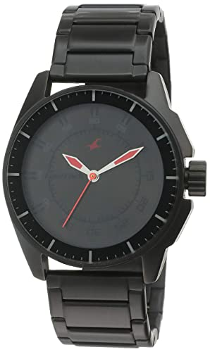 6. Fastrack Black Magic Analog Black Dial Men's Watch -NK3089NM01