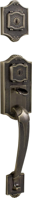 Weslock 01313 A 002d Lexington 1300 Series Entry Handle Antique Brass Doorknobs Amazon Com