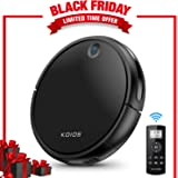 Koios 80% Higher Suction Robotic Vacuum Cleaner ith Self-Charging & Drop-Sensing Technology, HEPA Filter for Pet Fur, 2600mAH Battery Long Time Floor