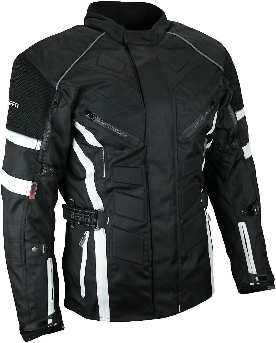 HEYBERRY Herren Touren Motorradjacke Textil schwarz rot Gr M