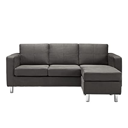 Merveilleux Small Spaces Configurable Sectional Sofa, Gray