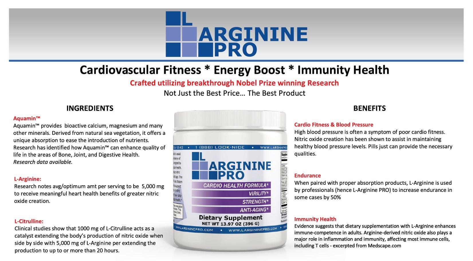 L-arginine Pro, 1 NOW L-arginine Supplement - 5,500mg of L-arginine PLUS 1,100mg L-Citrulline + Vitamins & Minerals for Cardio Health, Blood Pressure, Cholesterol, Energy (Berry, 3 Jars) by L-arginine Pro (Image #6)