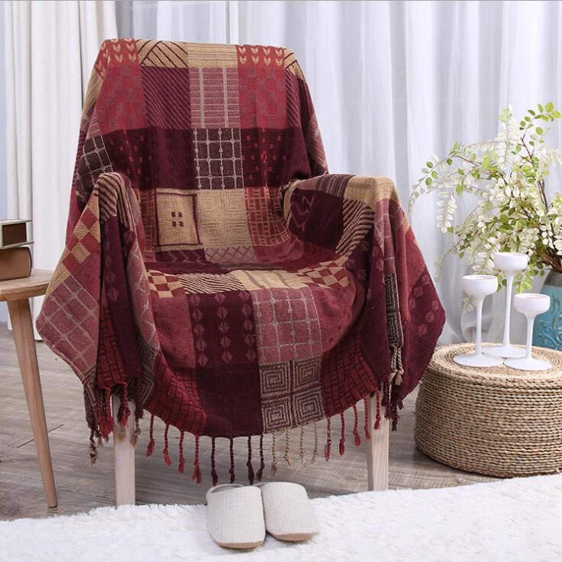 Peii Rori ソファチェアベッド毛布 装飾的 軽量カバー シェニール ソファー 通年使用 丸洗いOK 抗菌防臭 防ダニ ひざ掛け 大判 羽織 冷房対策 (色 : 3, サイズ : 83