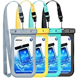 """Mpow Waterproof Case, Universal IPX8 Waterproof Phone Pouch Underwater Phone Case Bag for iPhone X/8/8P/7/7P, Samsung Galaxy S9/S9P/S8/S8P/Note 8, Google Pixel/LG/HTC up to 6.0"""" (Black, Green, Blue)"""