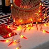 Dreamworth Red Chili String Lights,20ft 40 LED Chili String Lights Battery Operated Fairy Lights For Wedding, Chinese New Year,Spring Festival,Party Decoration,Christmas
