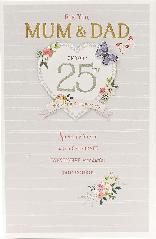 9th Wedding Anniversary Card Mum and Dad - Silver Wedding Anniversary Card  Mum and Dad - Ideal Gift Card - 9th Anniversary - Silver Anniversary
