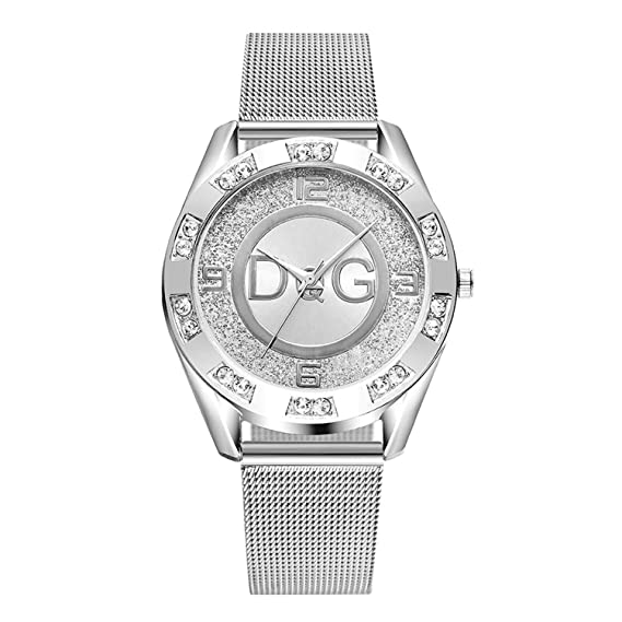 Amazon.com: Stainless Steel Exquisite Watch Women Rhinestone ...