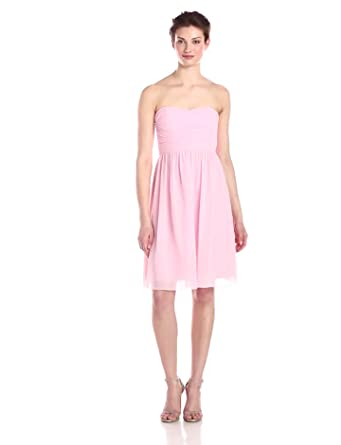 19c52a9bb260c Donna Morgan Women's Sarah Short Strapless Sweatheart Neckline Dress,  Blush, ...