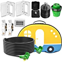 $59 » RVMATE RV Electrical Combo Kit Including one 30A RV Extension Cord, Two 15A to 30A Adapter Plugs, Two 15A Outlet Receptacles,…