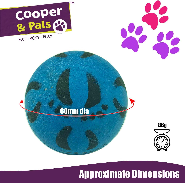 Cooper & Pals Bolas de Goma para Perros (Juguetes Fuertes para ...