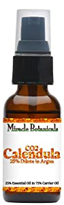 Miracle Botanicals CO2 Extracted Calendula Essential Oil in Golden Argan Oil - 25% Pure Calendula Officinalis in Argania Spinosa - in 30ml or 60ml Sizes - Therapeutic Grade - 30ml/1oz.