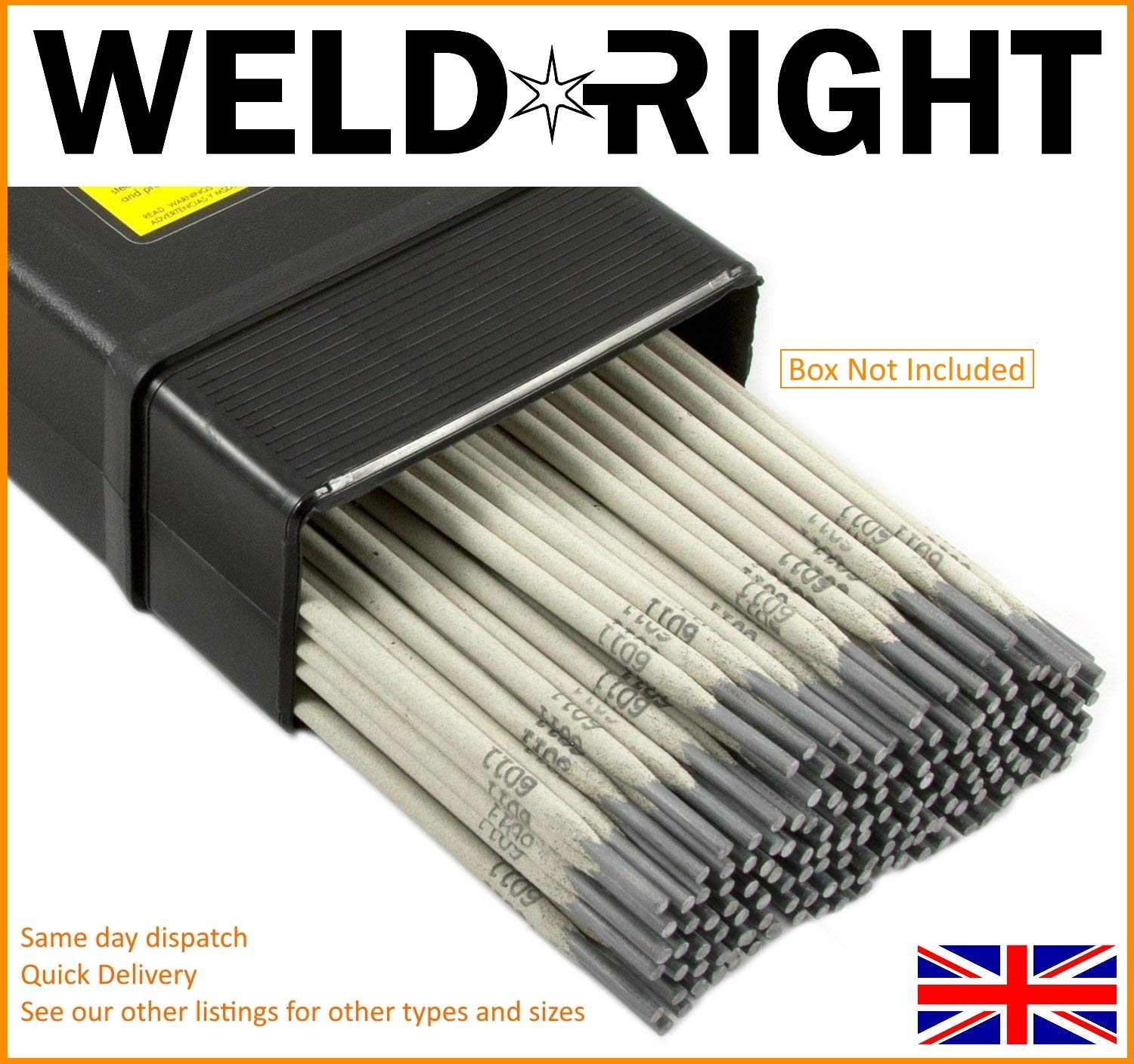 Weld Right 309L-16 Stainless Steel Arc Welding Electrodes Rods 2.5mm x 50 Rods