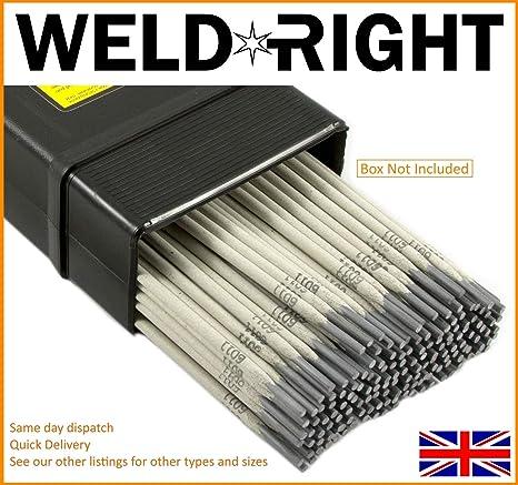 Weld Right ER316L De Acero Inoxidable Para Soldadura Por Arco Electrodos Varillas 2.0mm X 40