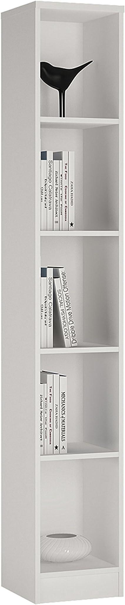 P&N Homewares Crescita - Estantería Estrecha en Color Blanco para salón, Muebles, 30 cm de Ancho