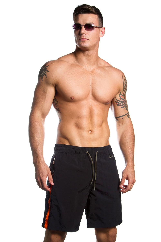HOM Black Addict Zipped Long Swim Boxer - ONLY SIZE MEDIUM LEFT!
