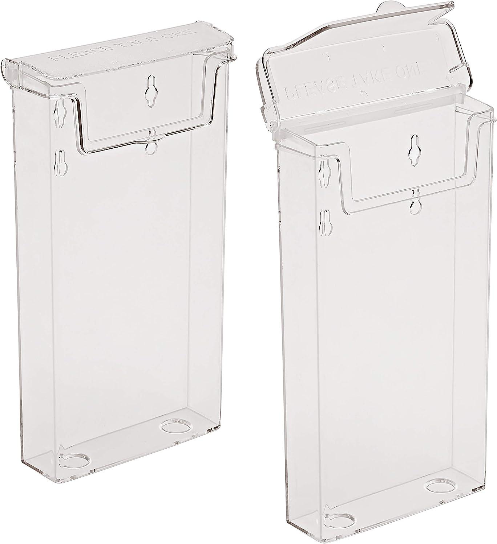 Prospektbox mit Deckel Wetterfest 10er-Pack taymar DIN A4 Prospekthalter