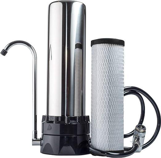 Amazon.com: Filtro purificador de agua para mesada de acero ...