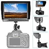 Neewer NW-760カメラ用HD1920x1200液晶モニター 超薄7inch IPS 1080P ヒストグラム フォーカスアシスト 露出オーバープロンプト アスペクト比16:10 デジタル一眼レフ ミラーレスカメラ ビデオカメラに対応