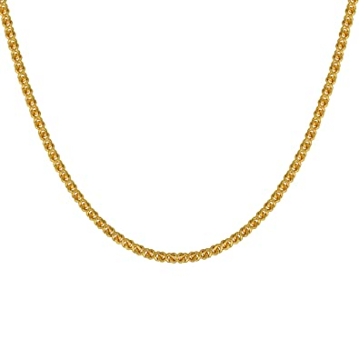 5cbec33710ad2 Buy Memoir Gold Plated Thin, Simple, Sober Design, 24 Inch, Daily ...