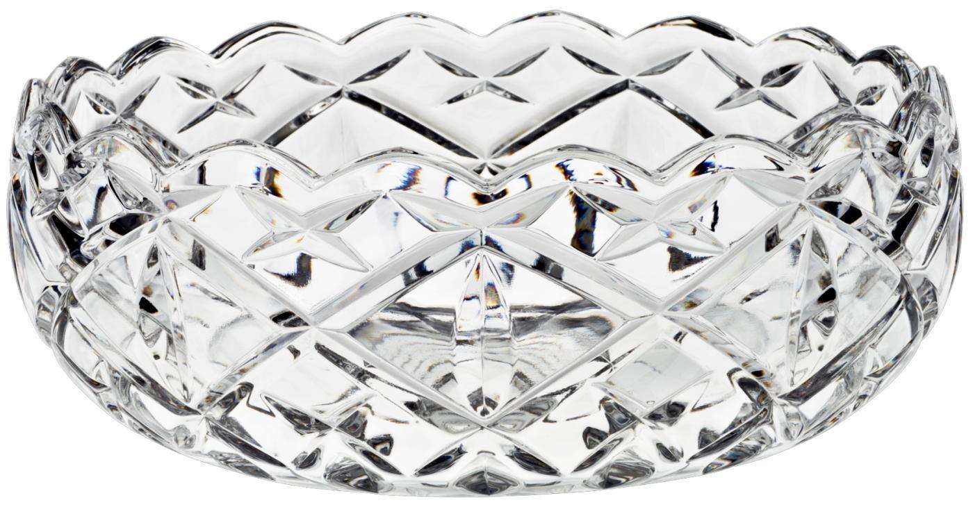 Bowl, Fruit Bowl, Salad Bowl HILLARY, transparent, Ø 22 cm, lead crystal, modern style (GERMAN CRYSTAL powered by CRISTALICA) Ø 22 cm