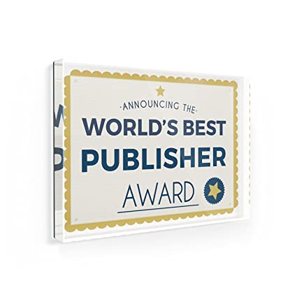 amazon com fridge magnet worlds best publisher certificate award