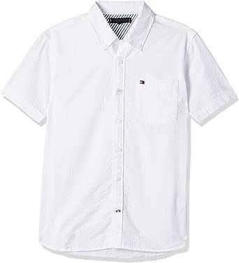 Tommy Hilfiger Boy's Seersucker Short Sleeve Shirt