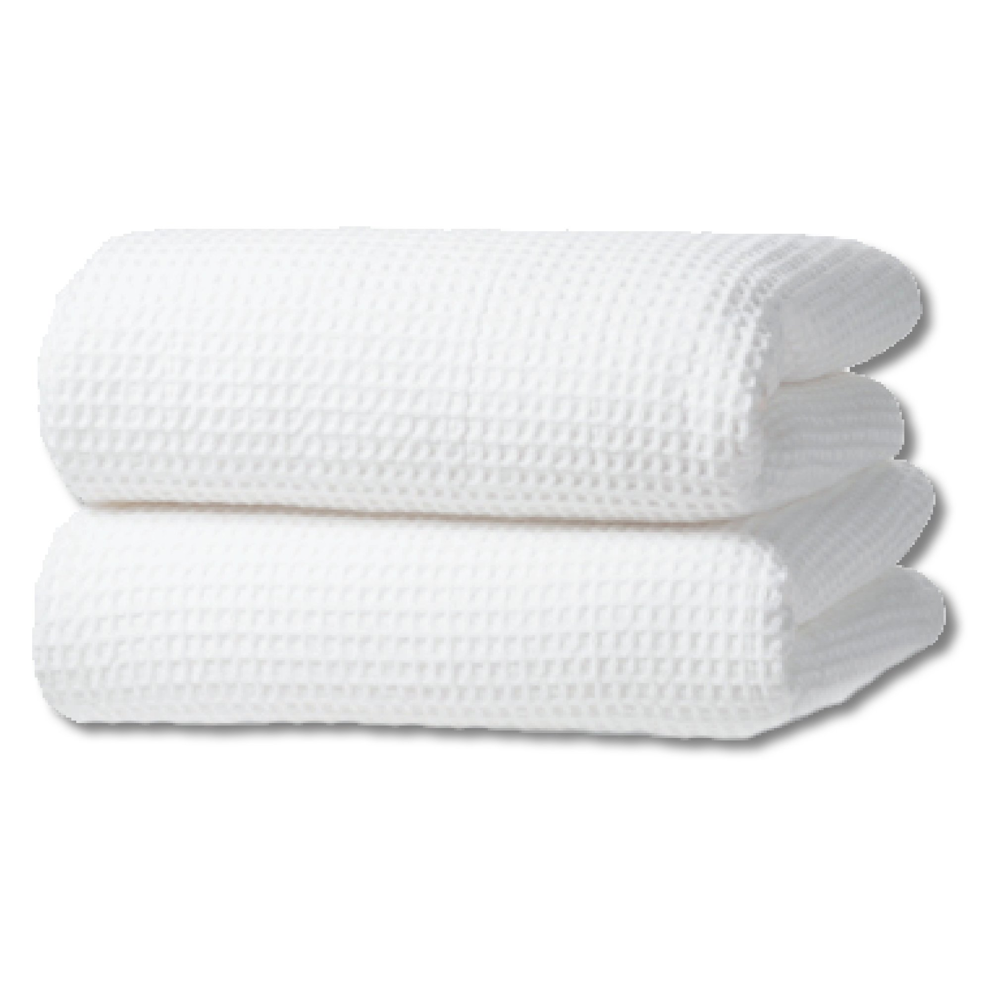Gilden Tree 100% Natural Cotton Classic Waffle Weave Bath Sheet - Set of 2 (White)