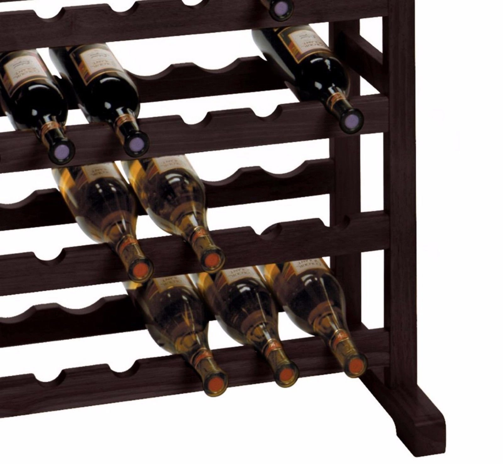 Wood Wine Rack 24 Bottle Glass Hanger Espresso Holder Storage Shelf Display by RX-789 (Image #5)