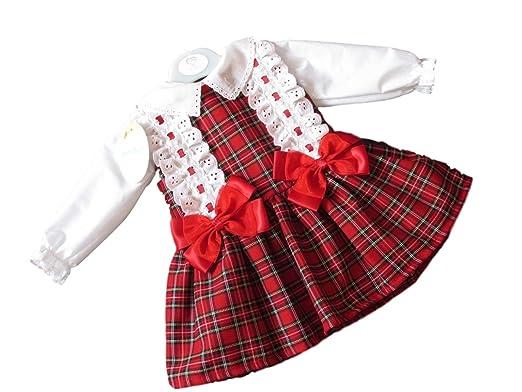 c176ec743 Girls Red Tartan Spanish Style Bow Dress & Blouse Set (6/12 Months ...