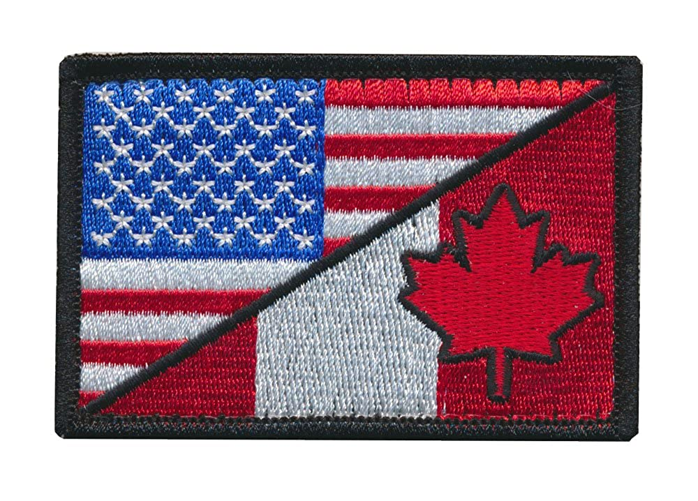 Patch Squad Men's Canadian Flag Canada Maple Leaf Military / USA Flag Patch