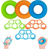 Hand Grip Strength Trainer, (6pcs) Hand Exerciser, Finger Stretchers, Hand Grip Exerciser Strengthener, Relieve Carpal Tunnel