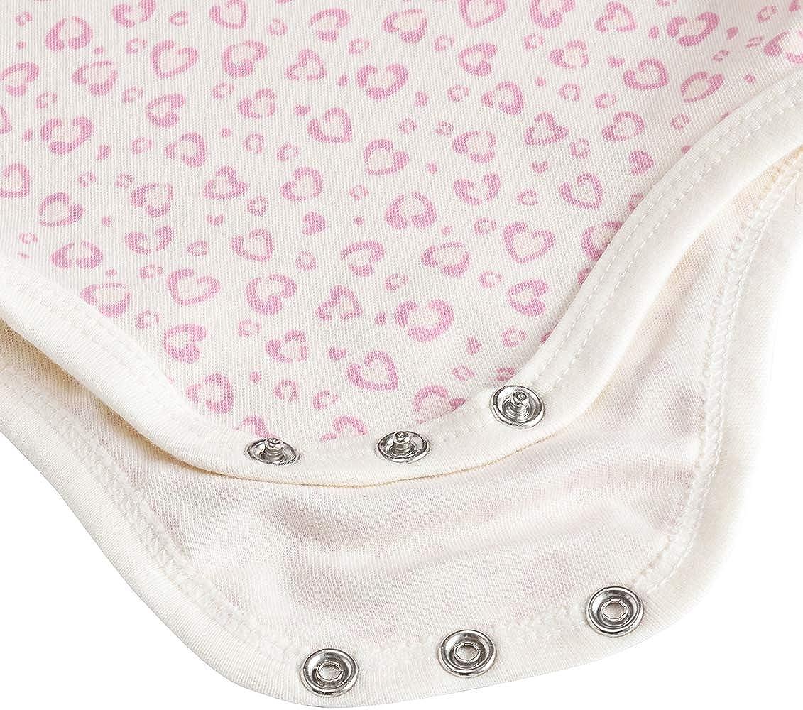 Kavkas Body de manga larga para beb/é algod/ón suave, 3 unidades 0-24 meses para ni/ños y ni/ñas