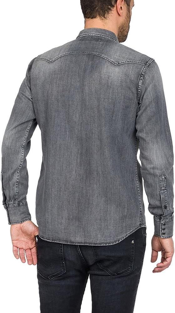 REPLAY M4860z.000.154 317 Camisa Vaquera, Negro (Black Denim 10), Small para Hombre: Amazon.es: Ropa y accesorios